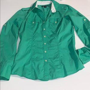 Green Banana Republic Button Up Shirt Size XS EUC